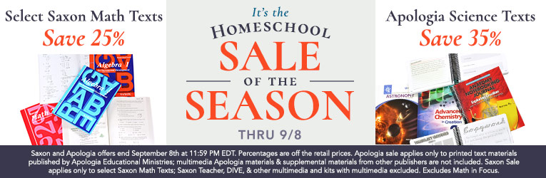 Homeschool Sale of the Season Extended