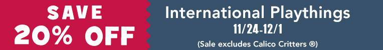 International Playthings Sale, Nov. 14 thru Dec. 1