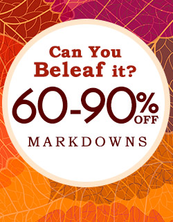 60-90% off markdowns