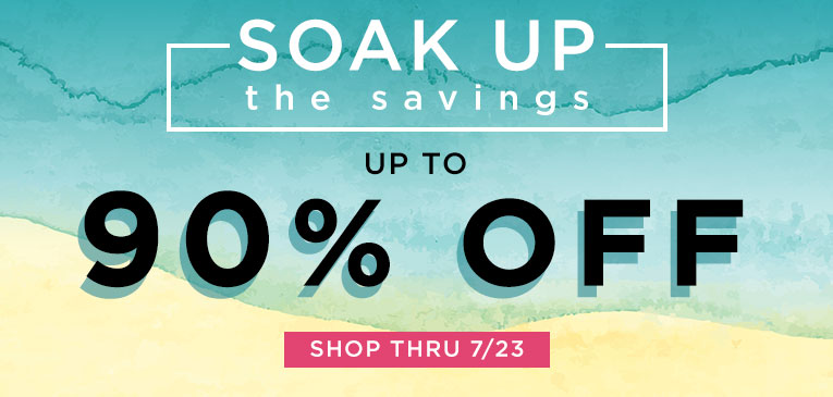 Soak up the Savings