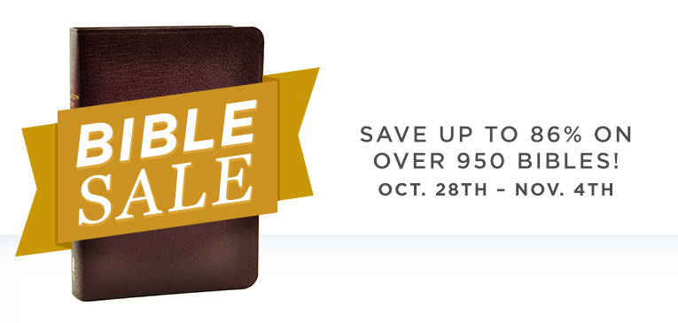 October Bible Sale
