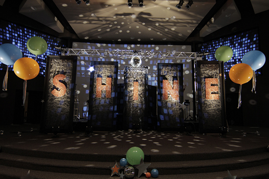 SHINE VBS Main Stage Decorating