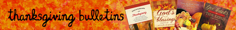 Thanksgiving Bulletins