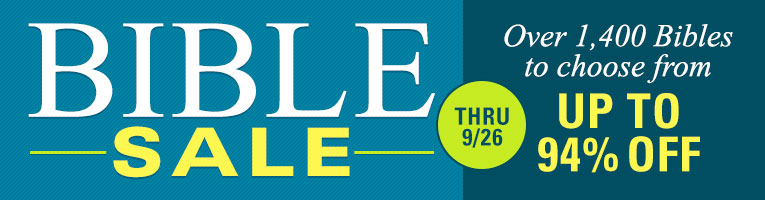 The Bible Sale- thru 9/26