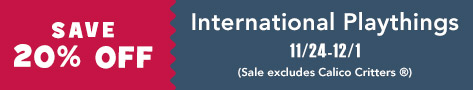 20% off International Plaything
