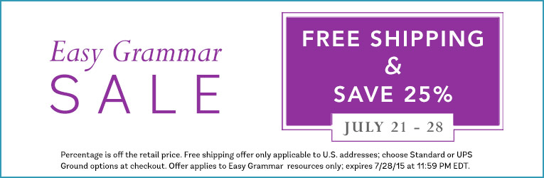 Easy Grammar Sale