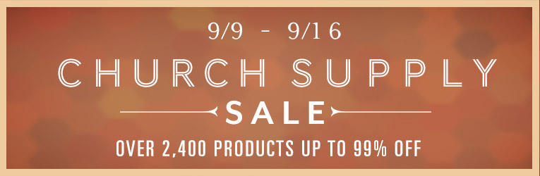 Church supply sale
