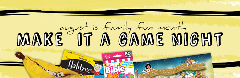 August is Family Fun Month: Shop Games