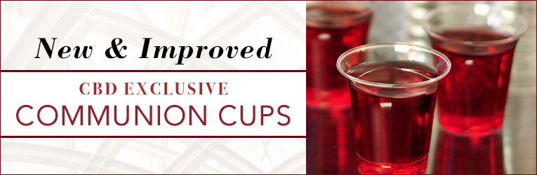 CBD Exclusive Communion Cups