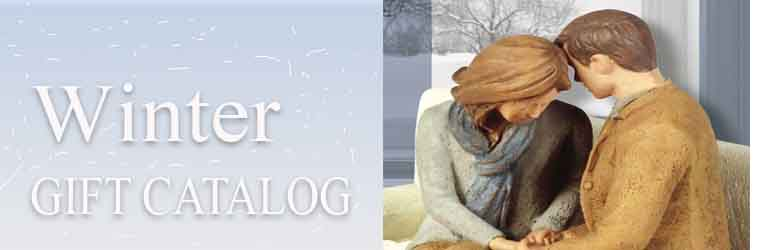 Praying Couple: Winter Gift Catalog Cover Design