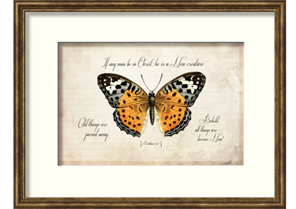 Elegant Framed Art: Butterfly Motif