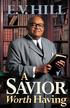 A Savior Worth Having - eBook