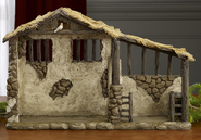 Real Life Nativity, Lighted Stable for 10.25 Set    -
