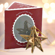 Star Nativity Olive Wood Ornament, Boxed   -