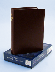 NIV Concordia Self-Study Bible, Bonded leather, Burgundy  1984  -