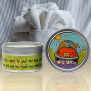 Show Off Your Faith Candle Tin, Fresh Linens  -