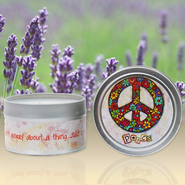 Show Off Your Faith Candle Tin, Lavender Fields  -