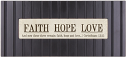 Faith Hope Love Framed Plaque  -