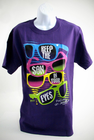 Songlasses Shirt, Purple, Large   -