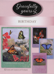 Blessed Birthday Cards, Box of 12  -     By: Larry Martin