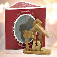 Nativity 3-D Olive Wood Ornament, Boxed   -