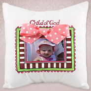 Child of God, Photo Pillow, Pink   -