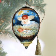 Angel Nativity, Ne'Qwa Art Ornament   -     By: Susan Winget