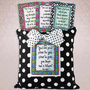 White Dotted Four Scriptures Pillow  -