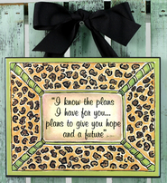 I Know the Plans Plaque, Leopard Print  -