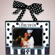 Believe Photo, Blue and White  -