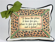 I Know the Plans Pillow With Bow, Leopard Print  -