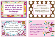Girl's Inspirational Verses Wall Cards, Pack of 4  -