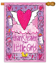 Thank Heaven for Little Girls Art Flag, Large  -     By: Joanne Sharp