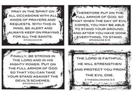 God's Armor for Protection Inspirational Verses Wall Cards, Pack of 4  -