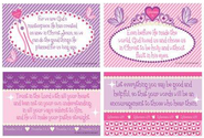 Self Worth Verses for Girls with Princess Symbols Wall Cards, Pack of 4  -