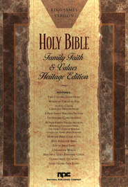 KJV Family, Faith & Values, Heritage Edition, Bonded Leather, Black  -