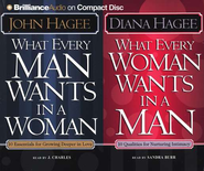 What Every Man Wants in a Woman/What Every Woman Wants in a Man - Audiobook on CD          -     Narrated By: J. Charles Burr, Sandra Burr     By: John Hagee, Diana Hagee