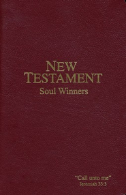 KJV Soul Winners New Testament Burgundy, Paper   -
