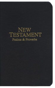 KJV Economy Pocket New Testament with Psalms   and Proverbs, Imitation Leather, Black - Slightly Imperfect  -