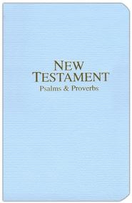 KJV New Testament with Psalms and Proverbs, Economy, Imitation Leather, Pastel Blue  -