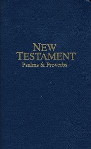 KJV Pocket New Testament Navy, Paper   -