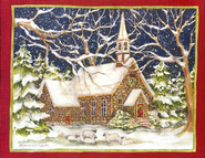 Stone Church Christmas Cards, Deluxe Box of 18  -              By: Susan Winget