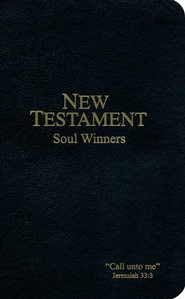 KJV Soul Winners Pocket New Testament, Black   -