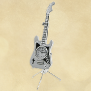 Electric Guitar Desk Clock   -