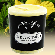 Yellow Hibiscus Candle Votive  -