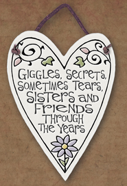 Sisters and Friends Through the Years Plaque  -