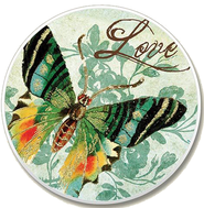 Love Butterfly Auto Coaster  -