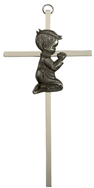 Praying Boy Cross  -