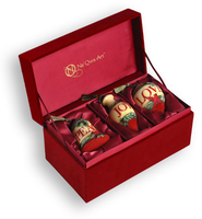 Peace, Joy, Love Neqwa Ornaments, Box of 3  -     By: Susan Winget
