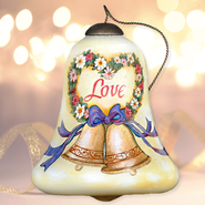 Love, Happy Anniversary Neqwa Bell Shaped Ornament  -     By: Susan Winget